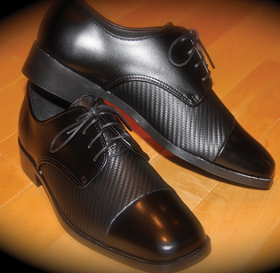 Talliaw Two Tone Black Shoe